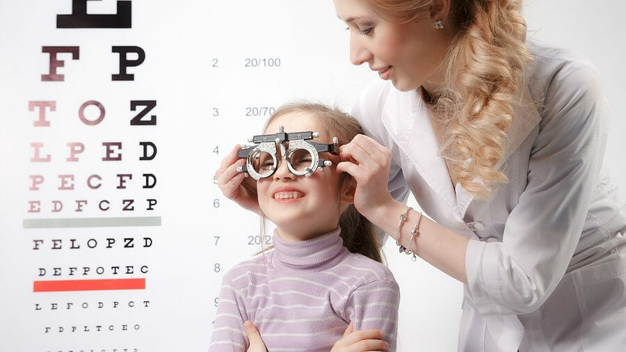 Children's eye test